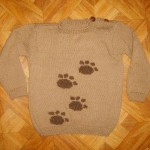 детский пуловер лапки