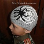 шапка паучок