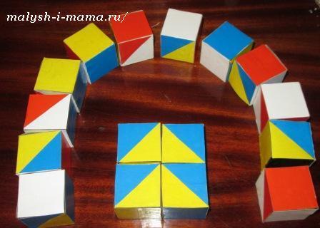 Кубики Никитина своими руками
