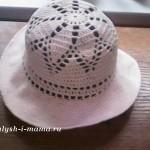 Шляпка крючком для девочки